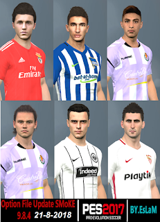 PES 2017 Option File SMoKE Patch v9.8.4 Update Summer Transfer 20-8-2018