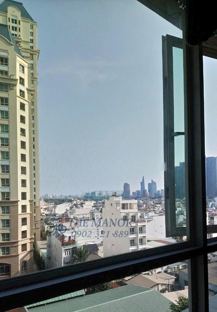 Góc view được chụp từ căn hộ The Manor 3 phòng ngủ cho thuê.