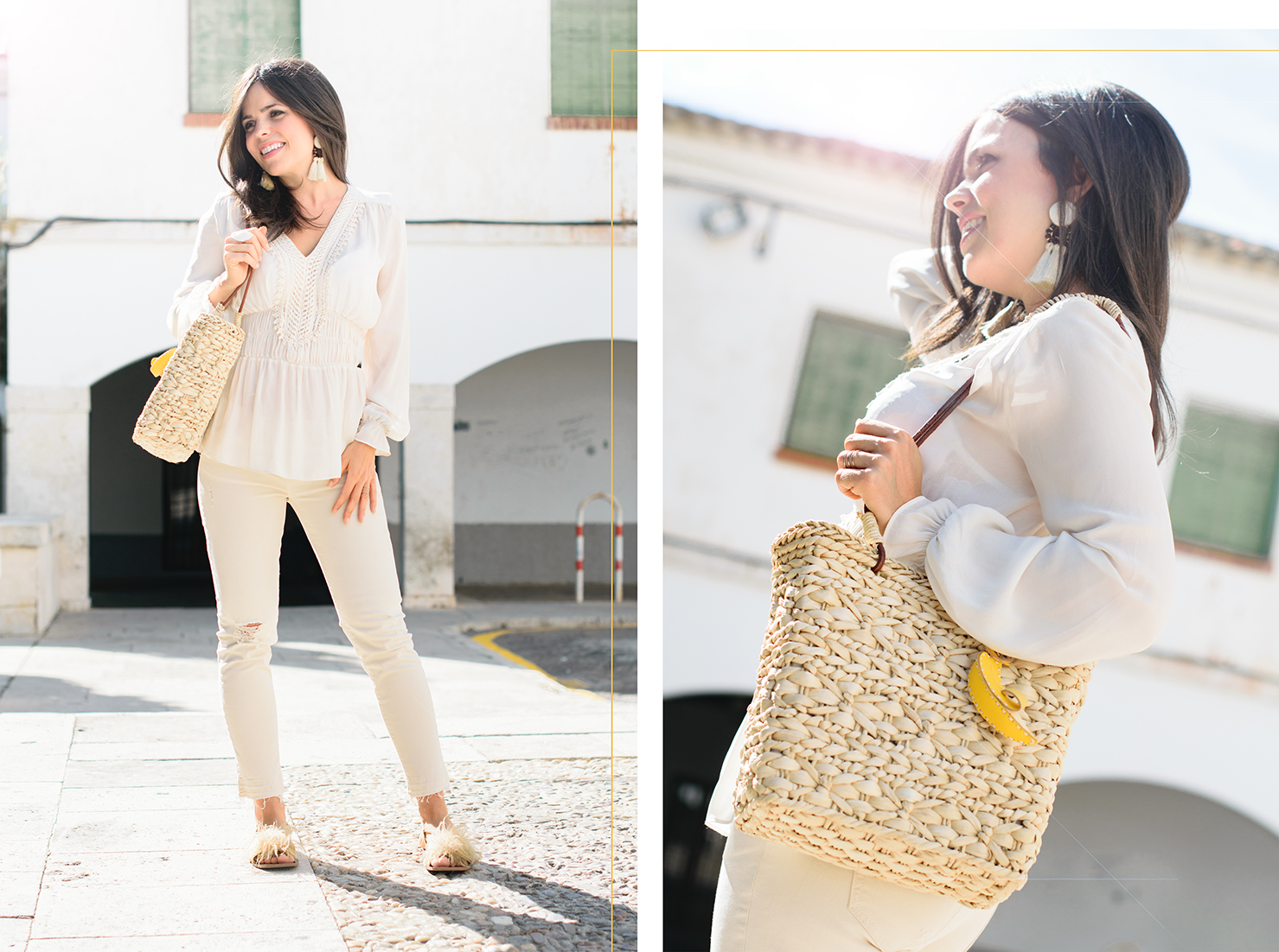 Total white look de Zara