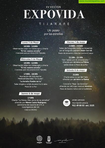 """Tijarafe presenta la XV Expovida """"un paseo por las estrellas"""""""