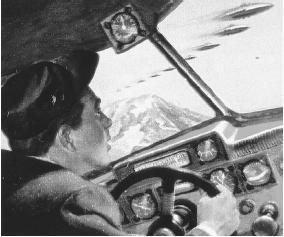 Avistamiento OVNI en el Monte Rainier por Kenneth Arnold