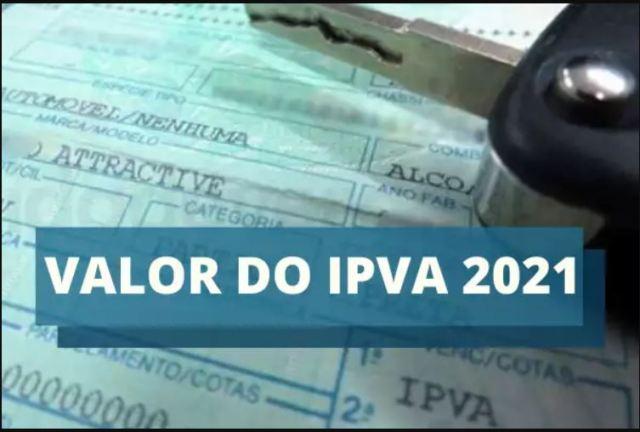 Valor do IPVA 2021 está disponível para consulta  a partir desta terça-feira, 22/12