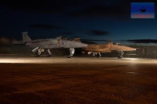 RAF SEPECAT Jaguar XZ117 XX725 bomber ground attack Cosford