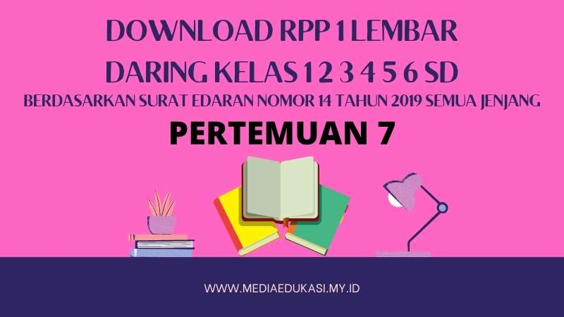 Download RPP 1 Lembar Daring Kelas 1 2 3 4 5 6 SD/MI Pertemuan 7 TA 2020-2021