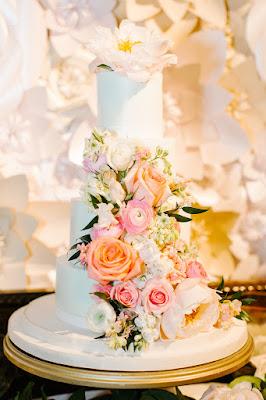 casa feliz 4 tiered wedding cake