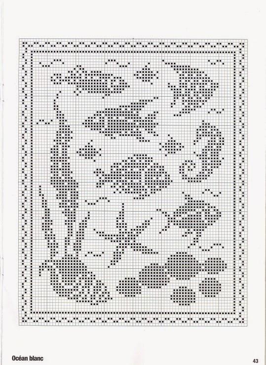 Hobby lavori femminili ricamo uncinetto maglia for Pesci con la e