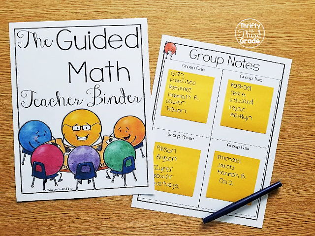 There are group charts so you can keep track of which students are in each group. I like to use sticky notes so I can easily change out the groups.