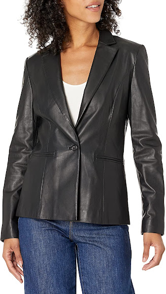 Elegant Leather Blazers Jackets For Women