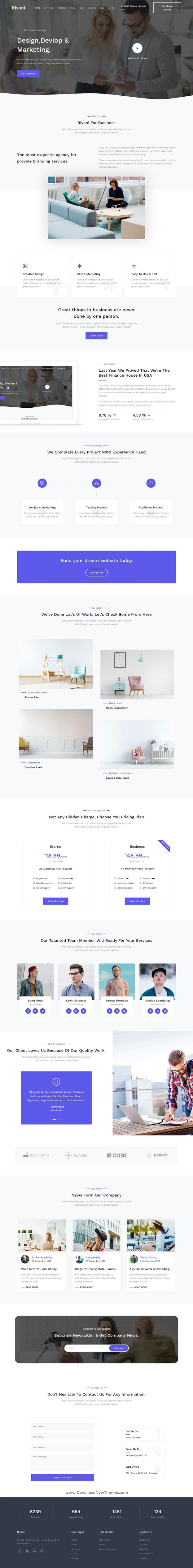 Responsive One Page Multipurpose Template
