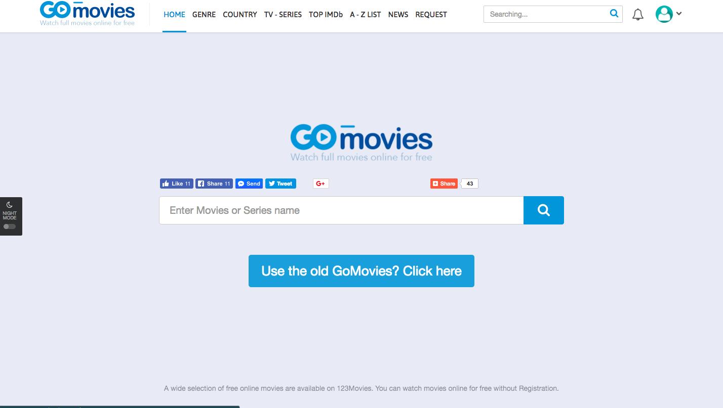 123Movies is Rebrands As 'GoMovies to'