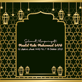 gambar poster ucapan maulid nabi 1443 h 2021 - kanalmu