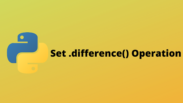 HackerRank Set .difference() Operation solution in python