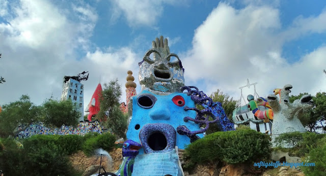 Niki de Saint-Phalle Kunst, Tarot-Garten, bewohnbare Kunstwerke