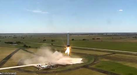 SpaceX Grasshopper test rocket