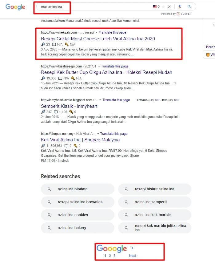 Artikel di Carian Pertama Google Search 2021 | Meksah.com |