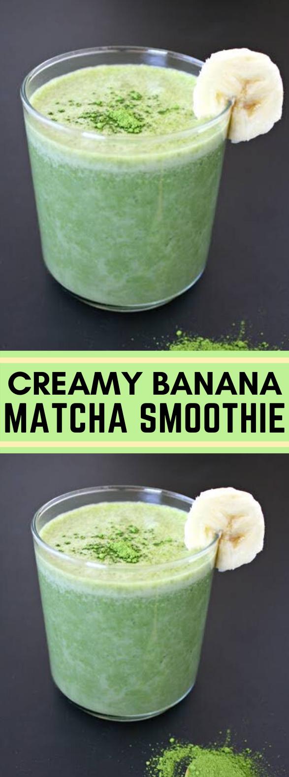 CREAMY BANANA MATCHA SMOOTHIE #drinks #healthy