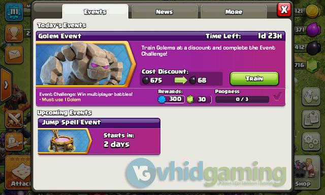 Clash of Clans Event - Golem Event