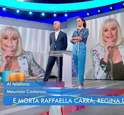 Roberta Capua foto annuncio morte Raffaella Carrà 5 luglio 2021