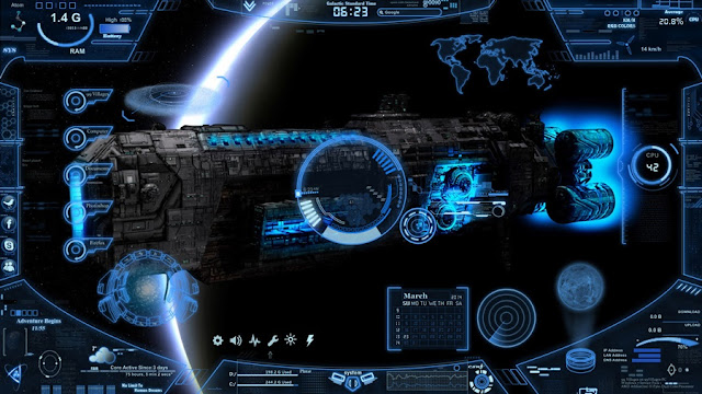 Neon Space Skin Download