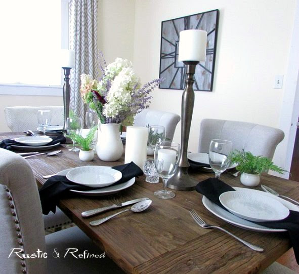 Casual farmhouse dining table ideas