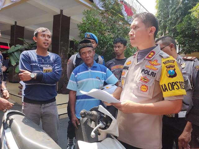 Motor Korban Aksi Pembegalan  Dikembalikan ke Pemilik
