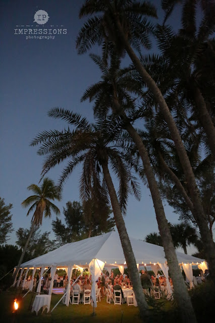 casa ybel tent wedding at night on sanibel island