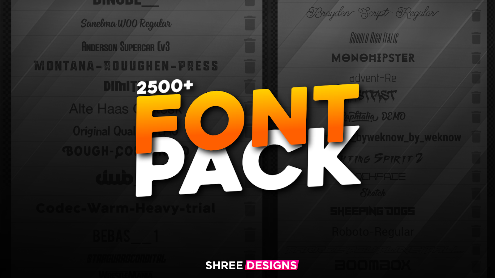 Download Download 2500 plus commercial font pack for free
