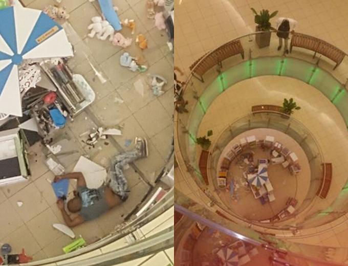Video: Hombre se lanza de cuarto piso de Ágora Mall