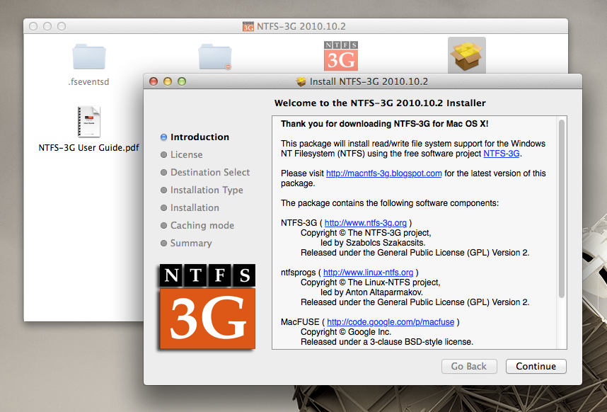 Enable writing to ntfs hard drives for free in mac os x (including.