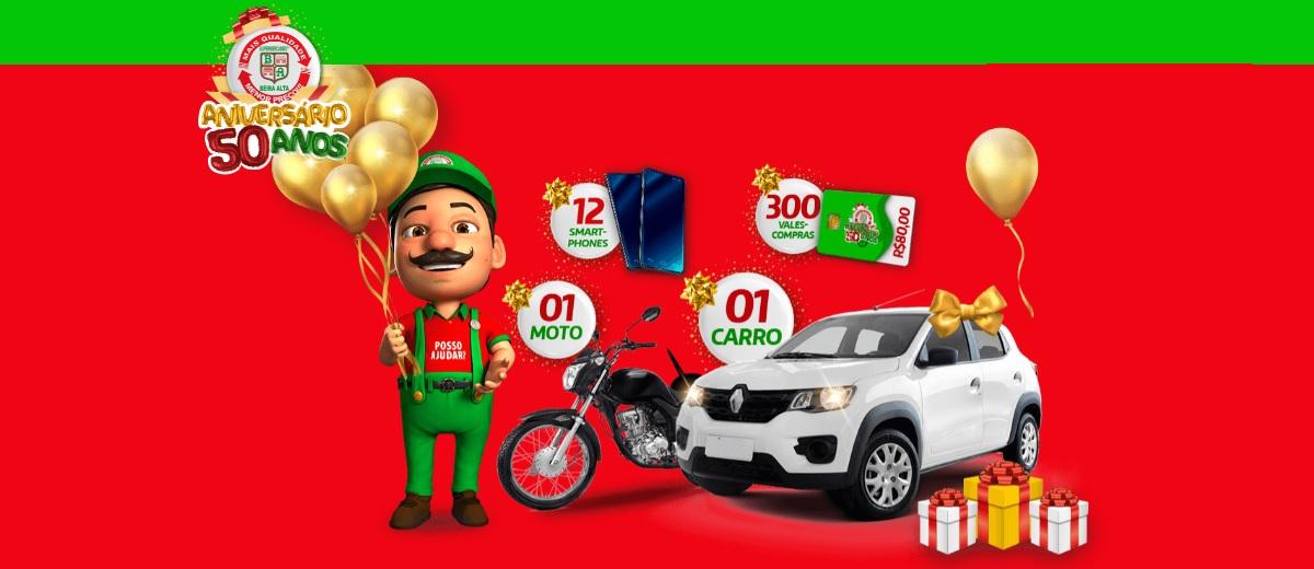 Aniversário 2020 Beira Alta Supermercados 50 Anos - Cadastrar e Prêmios