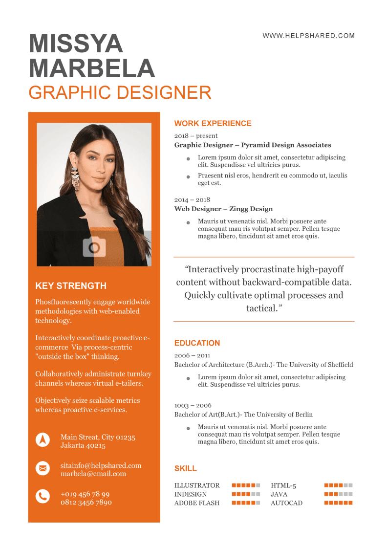 cv resume elegan-bold contrast