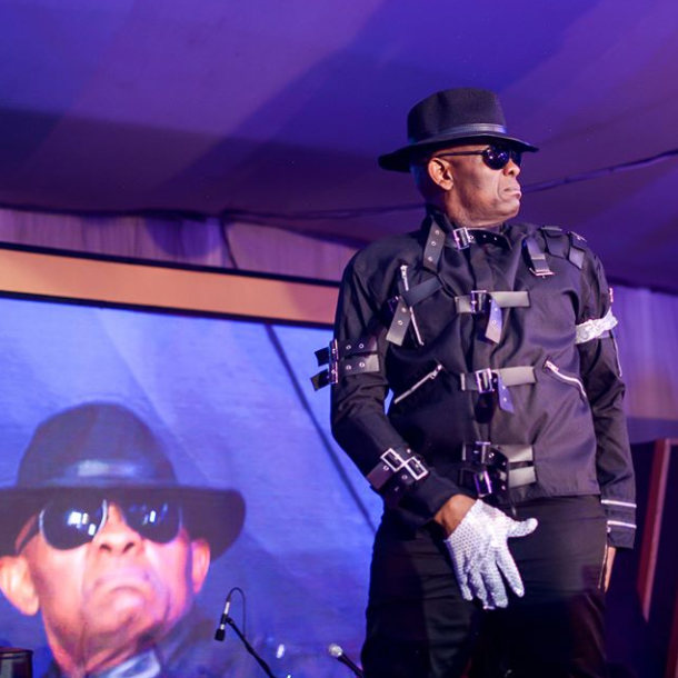 Tony Elumelu Dressed Like Michael Jackson As He Showed Some Moves On Stage