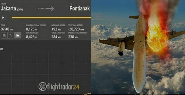 Ya Allah Ngeri! Sriwijaya Air SJ182 Menukik Cepat Selama 20 Detik dari Ketinggian 10 Ribu Kaki