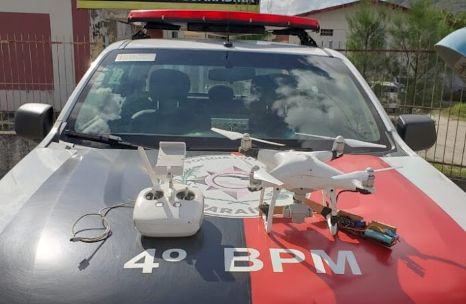 Presos suspeitos de usar drone para lançar drogas em presídio, na PB
