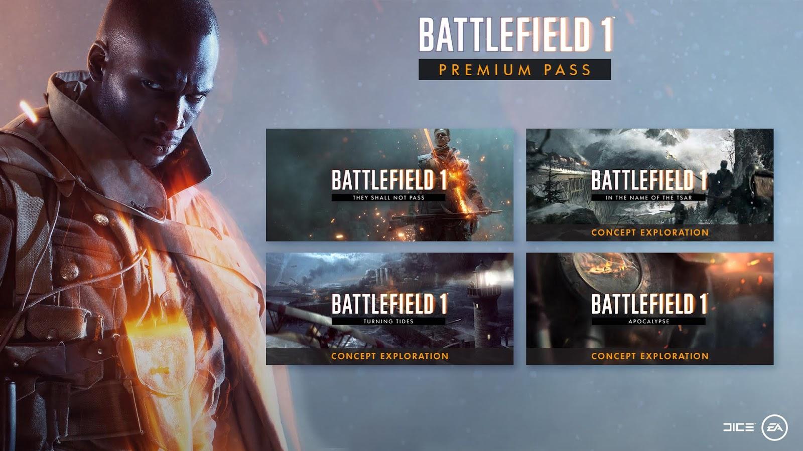 Se concretan las cuatro expansiones de Battlefield 1