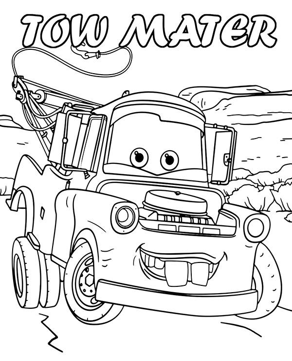 Tranh cho bé tô màu vương quốc xe hơi 8