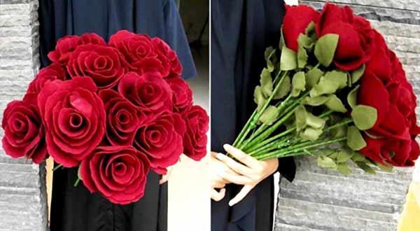 Gambar Kerajinan Tangan Bunga Flanel
