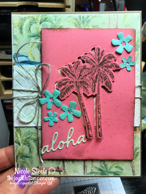 timeless tropical, in the tropics dies, stampin' up!, die-cut techniques, tropical, splitcoaststampers, card sketch, challenges, nicole steele, independent stampin' up! demonstrator, pittsburgh pa