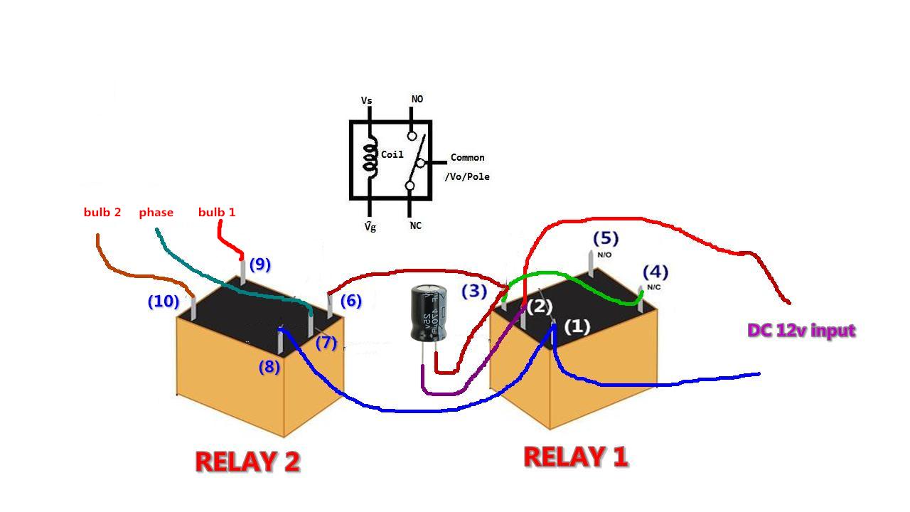 lights using two 12v dc relays diy lm317 how to make adjustable 1 5v 32v dc voltage regulator using lm317 low cost [ 1280 x 720 Pixel ]