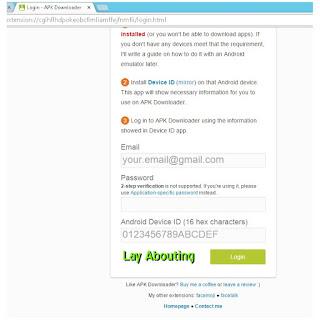 Page Login APK Downloader