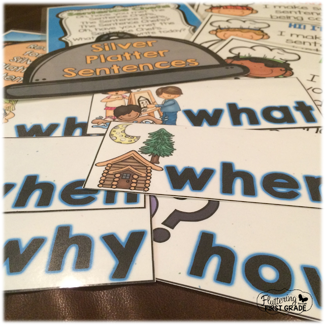 Teach sentence writing with the Sentence Chefs! Write silver platter sentences in a snap!
