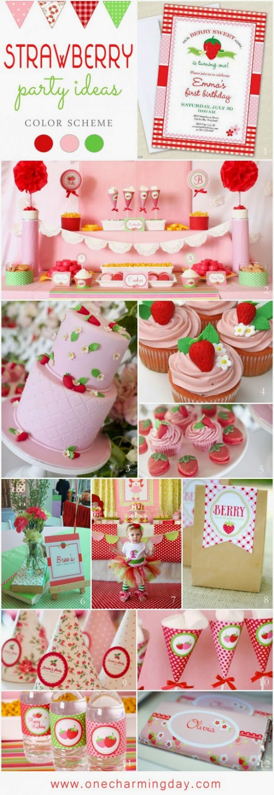 Yummy Strawberry First Birthday Theme
