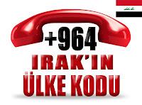 +964 Irak ülke telefon kodu