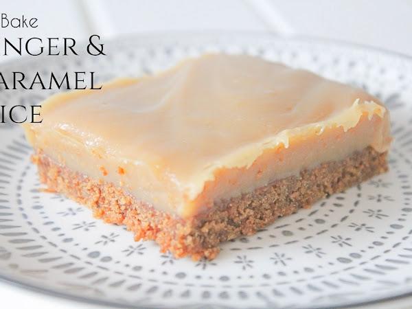 No Bake Ginger and Caramel Slice