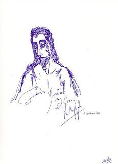 Ιωάννης ο Βαπτιστής του El Greco (Dessin sur cahier) Ν. Λυγερός