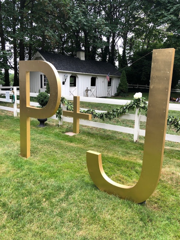 P+J Wedding sign
