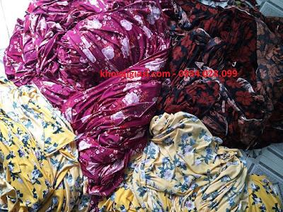 Vải tồn kho thun lạnh, chéo cho đại lý shop vải, xưởng may đồ bộ giá rẻ