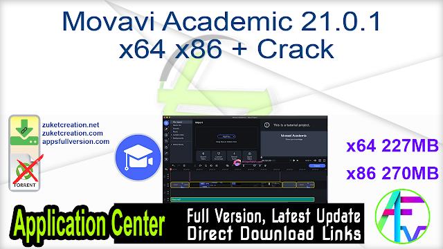 Movavi Academic 21.0.1 x64 x86 + Crack