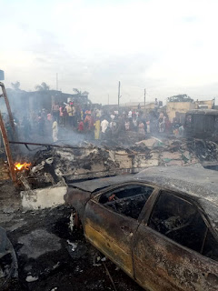 9 Confirmed dead, 55 vehicles burnt As Fuel tanker Explodes in Lagos | via @KrockcityDegree