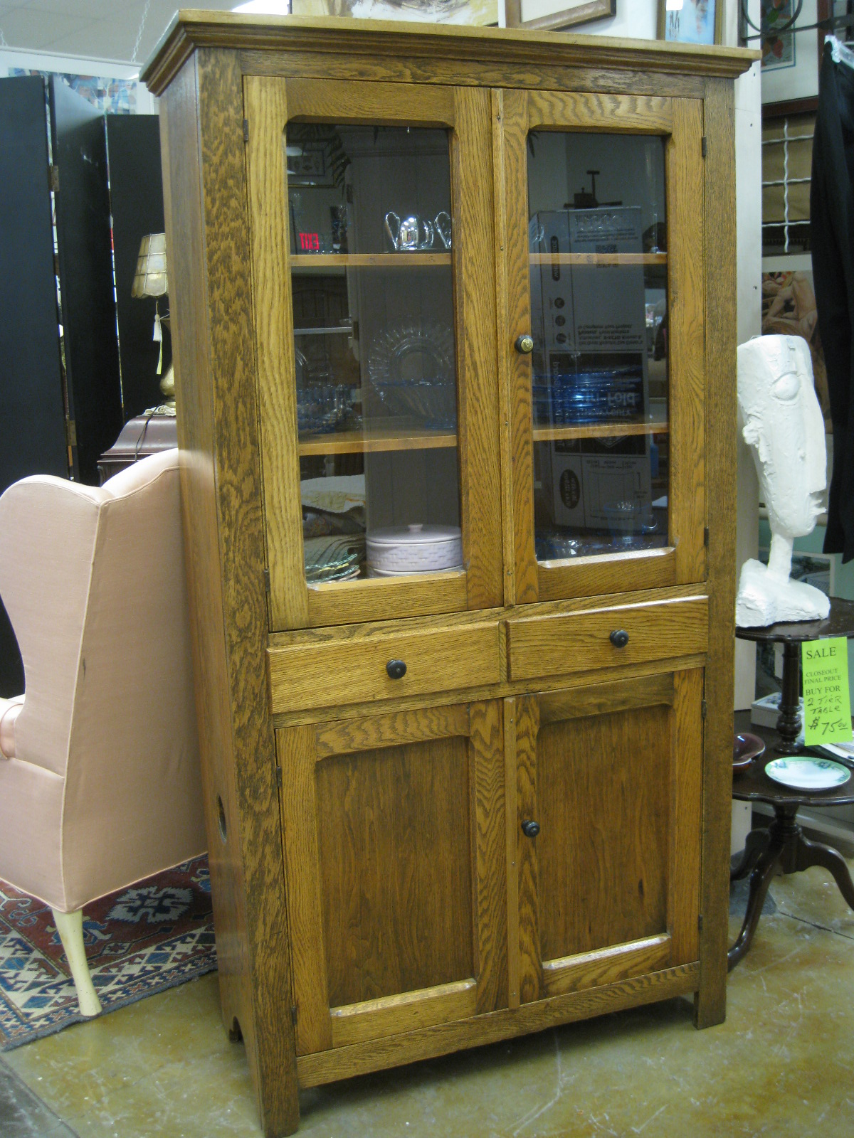 Antiques, Art, and Collectibles: Antique furniture, China